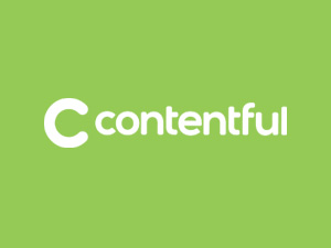 Contentful logo on green background